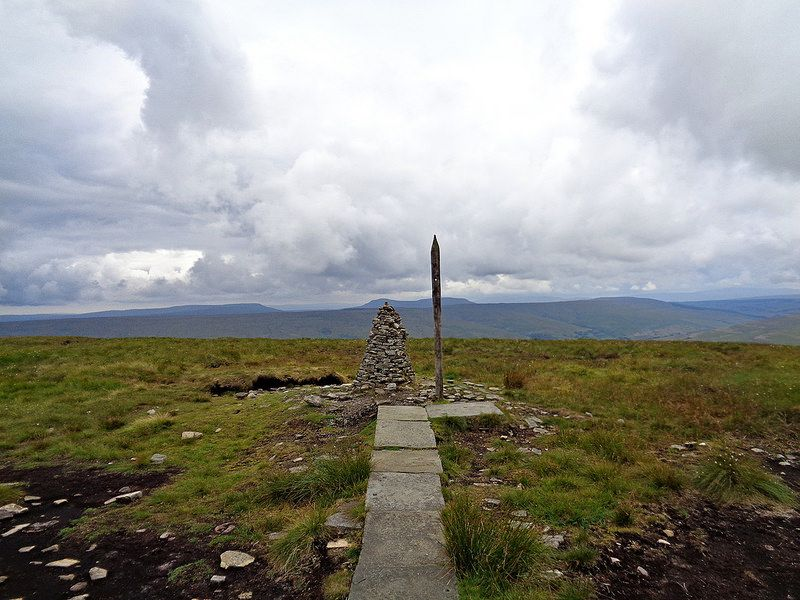 Summit view - Pen y Ghent visible in the distance