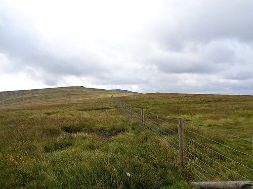 Looking back towards Great Whernside
