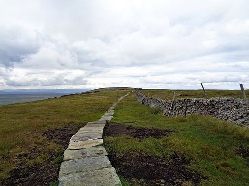 The path to Buckden Pike summit