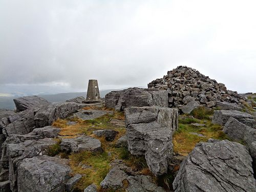 Great Whernside summit and trig point