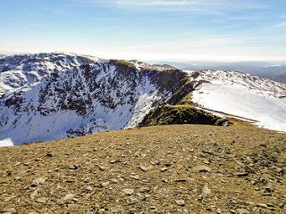 High Crag and Dollywaggon Pike from Nethermost Pike