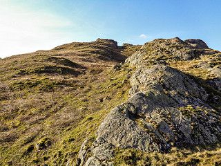 One final push to Arnison Crag summit