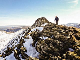 A walker on Striding Edge