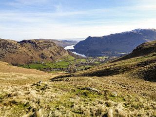 Looking down to Glenridding and Ullswater
