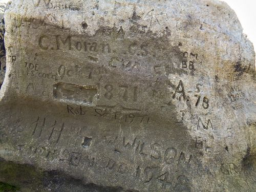 An example of old gritstone graffiti
