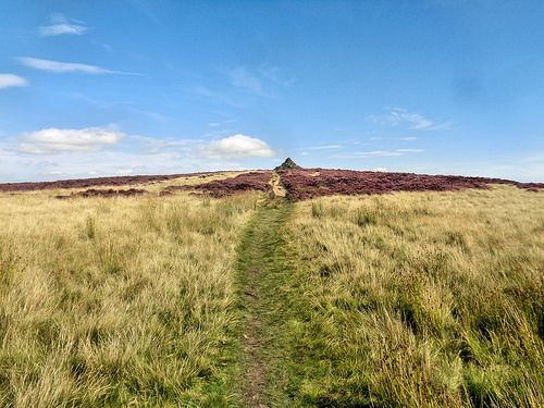 The track to the cairn on Brown Edge