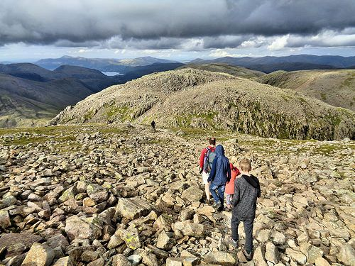 Making our way across to Broad Crag