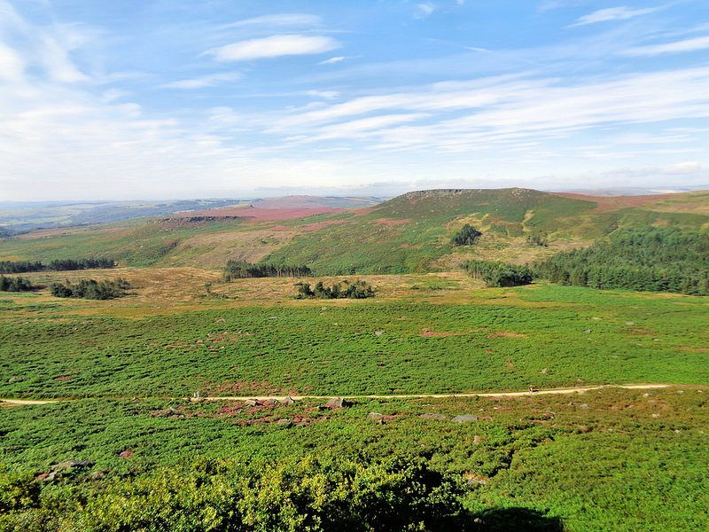 Higger Tor and Carl Wark from Burbage Edge