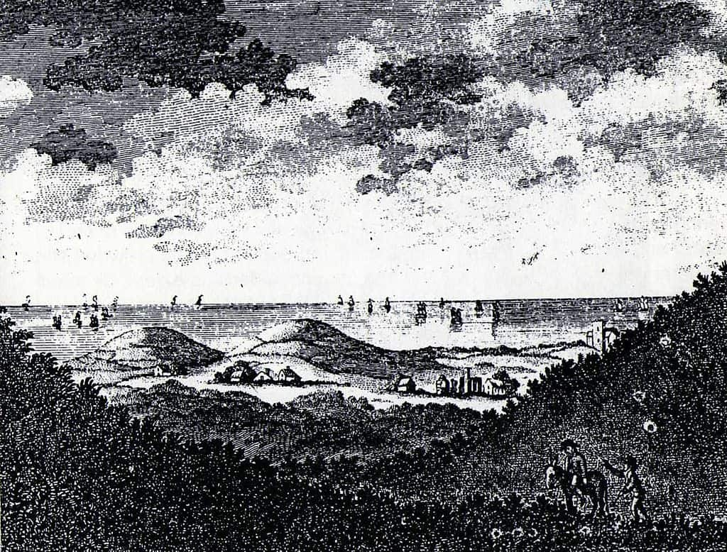 An etching of Beeston Hill from 1785