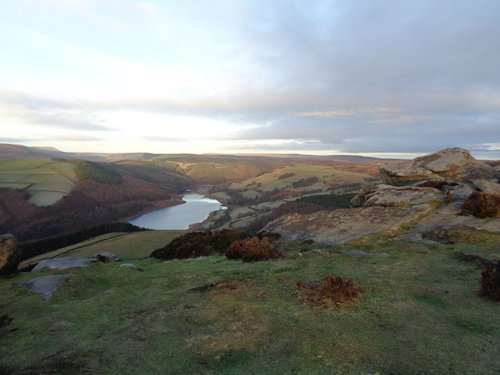 Ladybower from Whinstone Lee Tor on Derwent Edge